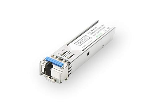 DIGITUS Gigabit SFP Modul, Mini GBIC, Singlemode, LC Simplex (BiDi), Tx 1310nm / Rx 1550nm, 20 km, 1.25 Gbit/s - Hot Pluggable Single