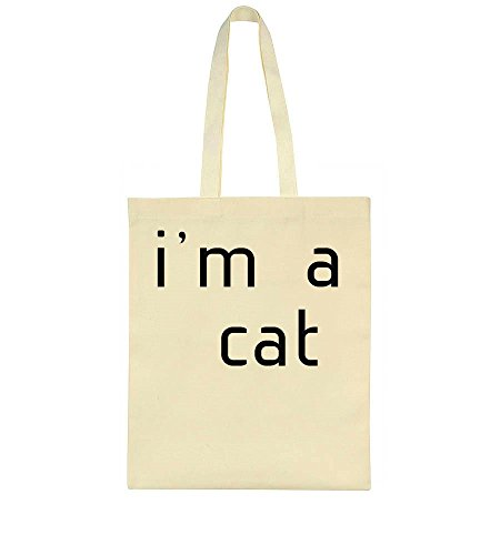 I'm A Cat. Catperson Design Tote Bag - Foxy Hipster