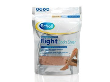 Scholl Flight Socks Sheer (sizes 6.5-8) 2 Pairs Including P & P*