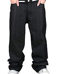 Pantalones Vaqueros De Los Hombres Jeans Ssig Hip Hop Moda Ropa Algodón  Suelta 260fe060bbd
