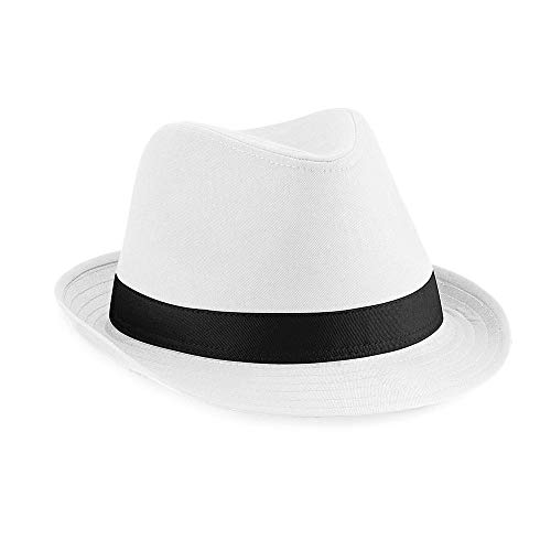 Beechfield - Fedora Hut Small / Medium,White/Black