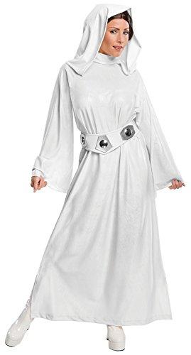 Rubie's Damen-Kostüm Star Wars Prinzessin Leia, Stil 5, Größe: S (USA 6 - 10), Brustumfang 91,4 - 96,5cm, Taillenumfang 68,6 - 76,2cm