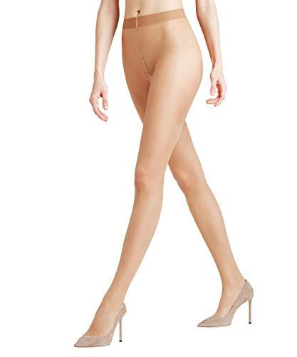 FALKE Damen Strumpfhosen Seidenglatt 15 Denier - Transparente, Leicht Glänzend, 1 Stück, Beige (Crystal 4409), Größe: XL