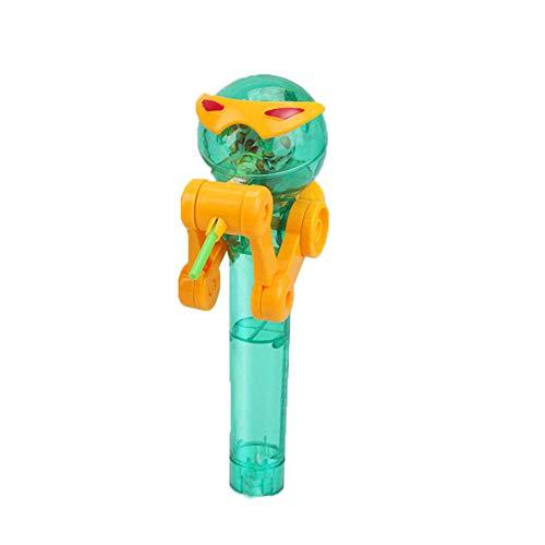 Vovotrade Kreatives Lutscher Artefakt lustiger Essenlutscher Roboter Halter Stand Geschenk Spielzeug (grün)