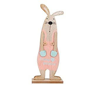 AG&T New Easter Exquisite Premium Wooden Bunny Ornaments
