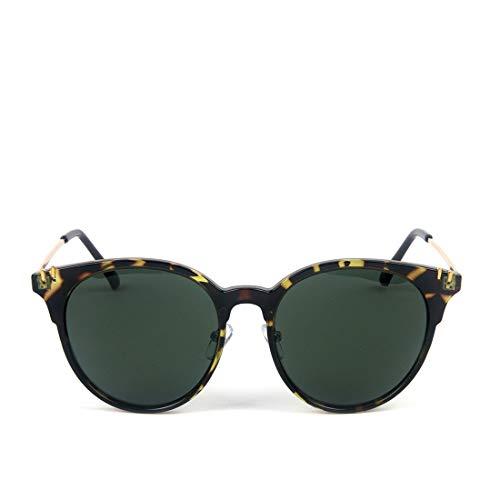 LBY Mode PC Metall Cat Eye Polarisierte Damen Sonnenbrillen Sonnenbrille für Damen (Farbe : Silver Frame/Green Lens)