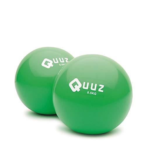 QUUZ Gewichtsbälle 2x0.5 kg Core Training Pilates Functional Reha Therapie