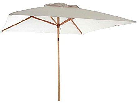 Sonnenschirm aus Holz rechteckig 200x 300cm., Mast Ø 40mm.