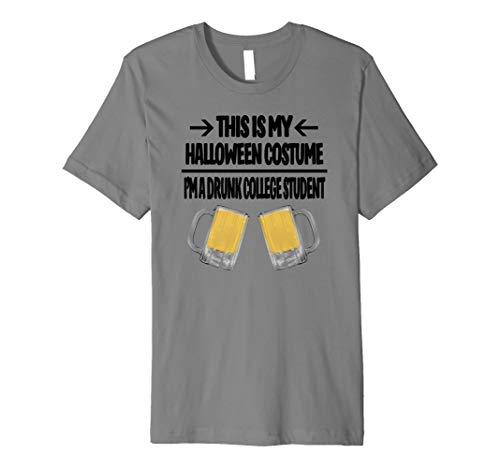 (College-Studenten Halloween-Kostüm T-Shirt–Männer Frauen Größen)