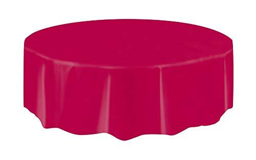 Unique Party Supplies Kunststoff-Tischdecke, rund, 213,3 cm (Runde Tischdecke Party)