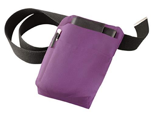 Kellnertaschen-Halfter, Kellnerhalfter, Halfter, Gürteltasche aus Stoff für Börsen & Blöcke in Purple 220gr. - ohne Gürtel und Deko