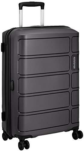 American Tourister Summer Splash, Valigia Media Rigida, 4 ruote, 67 cm, Nero
