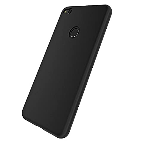 Coque Huawei P8 Lite Noir - Coque Huawei P8 Lite 2017, EasyAcc Etui