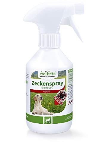 AniForte Zeckenspray 250 ml für Hunde, Natürlicher Langzeit Zecken-Schutz mit Lavendel-Öl und Zitronen-Öl, Ohne Chemie