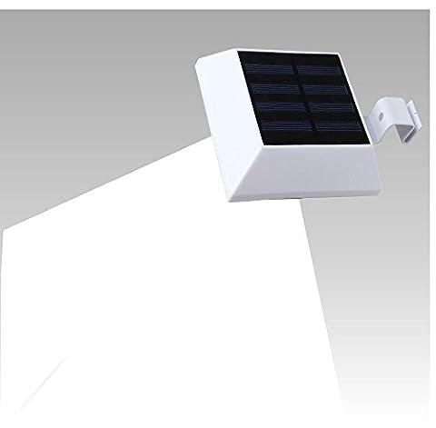 (1 paquet) Lumières solaires, T-SUNRISE 6 lumières solaires de gouttière LED, éclairage de sécurité extérieur étanche solaire pour jardin, clôture, maison de chien, arbre, porte de garage extérieure, mur, escalier partout Sécurité Lite avec support