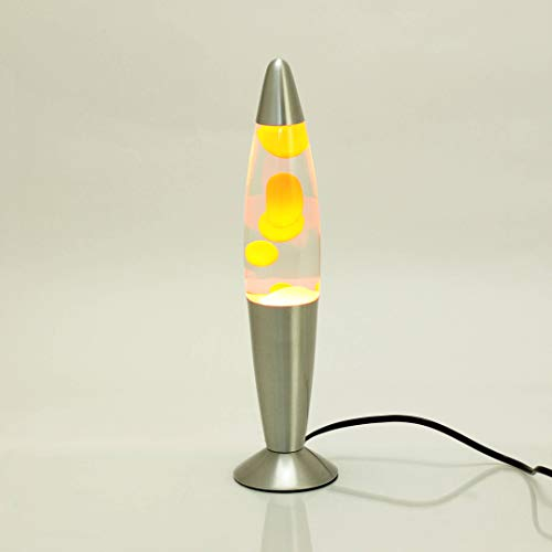 Lámpara de lava 35cm Naranja claro Timmy E14 25W cable interruptor idea de regalo de Navidad Cumpleaños...