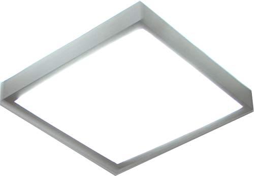 Deckenlampe Deckenleuchte Deckenbeleuchtung Lampe Leuchte Flurlampe für Innen Indoor Wohnzimmer Schlafzimmer Metall Quadrat Lichteffekt Tageslicht 16W 6500K LED XDQ16 (Lichtfarbe: kalt-weiß)