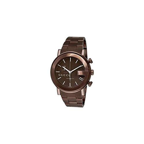Gucci–Montre de bracelet pour homme, acier inoxydable, couleur marron