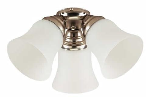 Westinghouse Design and Combine 3 Light Kit Ceiling Fans, Brushed Aluminum