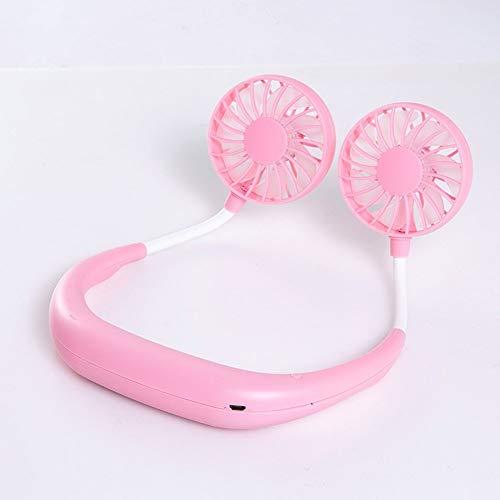 Szblk Lüfter USB-Lüfter Mini-Lüfter Desktop-Lüfter Elektro-Lüfter 3-stufig Geeignet for Reisen Camping Bürostühle (Color : Pink) - Wetter Bürostuhl