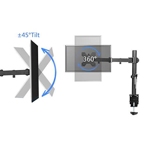 confronta il prezzo SuptekHeavy Duty singolo monitor LCD a schermo piatto staffa di supporto per 33- 68,6cm protezione con tilt ± 15°, rotazione di 360° e braccio girevole a 180° estraibile–Max VESA 100x 100 MD6421 miglior prezzo