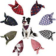 SCENEREAL CO. Pañuelo clásico para Perro, diseño de Cuadros, 8 Unidades por...