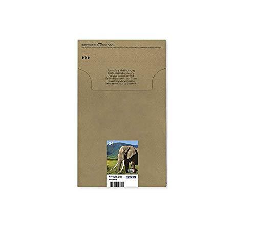 Epson T2428 Elefant, Claria Photo HD Tinte (hochauflösende Fotodrucke, Multipack 6-farbig) (CYMK + Light cyan, Light magenta)
