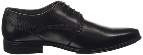 Hush Puppies Leder Kane maddow schwarz Formelle Schuhe, Arbeit und Uniform schuhe Schwarz (Black),