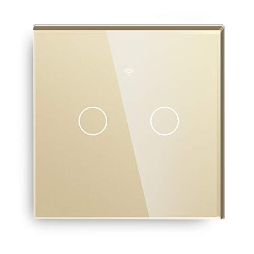 BSEED WIFI Touch Sensor Interruptor de luz de pared (Neutral Feed Needed,...