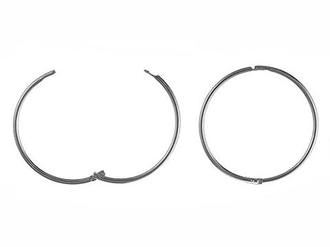 16mm, uni, Scharnier Sleeper Hoop Ohrringe–925Sterling Silber–Lieferung in gratis Geschenkbox/Geschenkbeutel