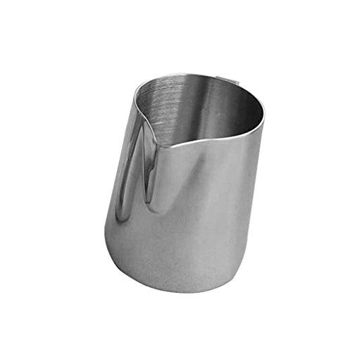 Ming resistente acciaio inossidabile Schiuma BROCCA con comoda maniglia per macchine espresso, latte Frothers e (Espresso Latte Art)