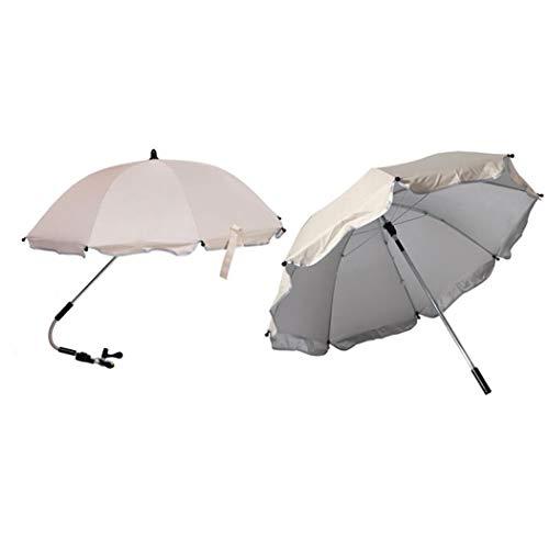 wuyiti Robuster zusammenklappbarer Kinderwagen-Regenschirm Kinderwagen Regenschirm Sonnenschirm & Sonnenschutz, weiß, 70 x 80cm