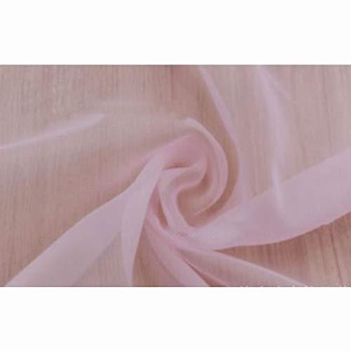 Tulle tende a pannello, soft pura tenda lightweight facile manutenzione romantici mantovana per il salone-rosa chiaro 130x270cm(51x106inch)