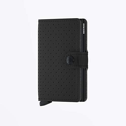 Secrid Perforated Miniwallet Börse mit RFID Schutz 6.5 cm Black