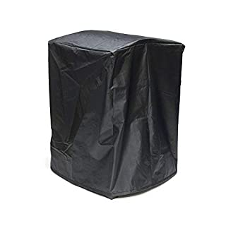 ALEKO FPC09 Heavy Duty Weather Resistant Fire Pit Bowl Protective Cover - Black - 22 x 22 x 31 Inches