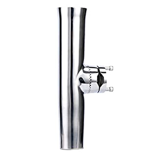 Amarine-made Stainless Tournament Style Clamp on Fishing Rod Holder for Rails 7/8