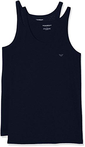 Emporio Armani Underwear Herren 111612CC722 Schlafanzugoberteil, Blau Marine 27435), Large (erPack 2