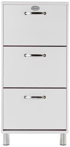 Tenzo 5263-005 Malibu - Designer Schuhschrank 121 x 58 x 24 cm, MDF lackiert, weiß