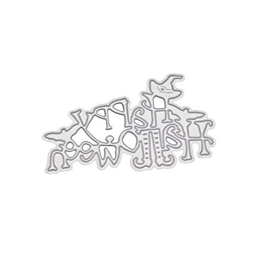 WuLi77 Happy Halloween Metall DIY Metallstanzformen zum Basteln von Karten, Prägeschablone für Scrapbooking DIY Album Papier Karte Kunst Basteln Dekoration