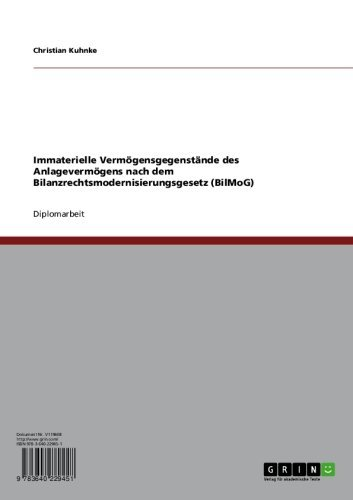 Immaterielle Vermögensgegenstände des  Anlagevermögens nach dem  Bilanzrechtsmodernisierungsgesetz (BilMoG)