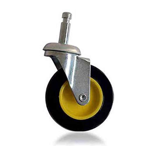 W-h-e-e-l-s Ruote con silenziatore, Nero Ruota con Supporto Girevole a 360 Gradi Ruota for Auto con Spinta a Spint