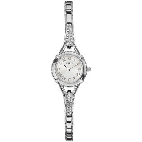 Guess Ladies Jewelry W0135L1 - Reloj analógico de cuarzo para mujer, correa de acero inoxidable color plateado