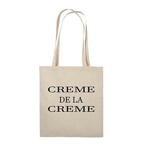 Buste Comedy - Creme De La Creme - Borsa In Juta - Manico Lungo - 38x42cm - Colore: Nero / Argento Naturale / Nero