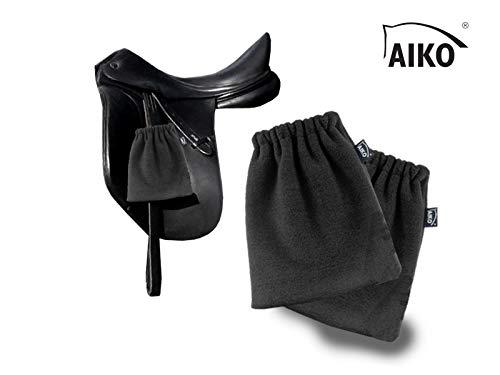 Aiko Steigbügelschoner Steigbügelschützer Steigbügelschutzhülle Steigbügelhülle, Fleece 1 Paar (antrazit)