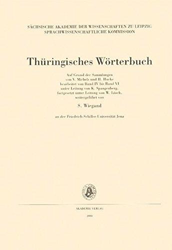 Thüringisches Wörterbuch, Bd.3 : 1. Lieferung: BD III /Lfg 1