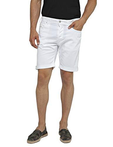 Replay Herren RBJ.901 Shorts, Weiß (White 1), W32(Herstellergröße: 32) -