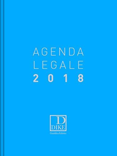 Agenda legale d'udienza 2018. Ediz. azzurra