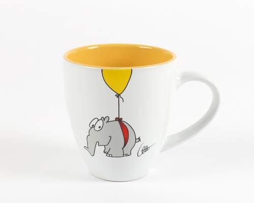 Ottifanten Kaffeebecher by Otto Waalkes 400ml Farbe gelb mit Ballon