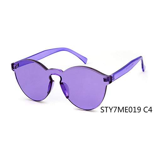Taiyangcheng Gafas de sol transparentes Ojo de gato Mujeres Hombres Gafas de sol transparentes Gafas integradas Caramelo Rojo,C4