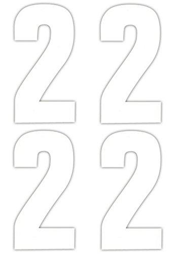 Numéro 4 x 2 Stickers pour poubelle à roulettes